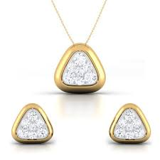 simple diamond set simple diamond pendant set online for women