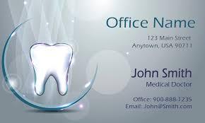 dentist business card template 3d dental theme dentist business