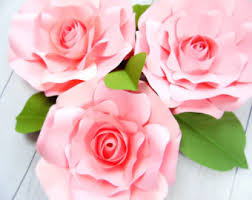 large paper rose flower templates and svg files diy paper