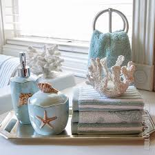 Seashell Bathroom Decor Ideas Style Bathroom Accessories Blue White Colors Seashells