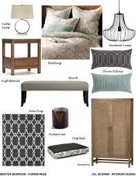 Jill Seidner Interior Design Online by West La Residence Master Bedroom Furnishings Concept Board Jill