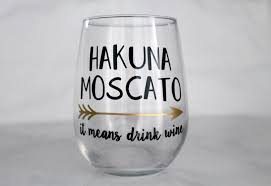 birthday drink wine ships for christmas hakuna moscato stemless wine glass 17oz
