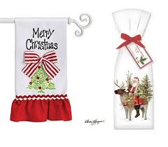 christmas towels christmas kitchen towels