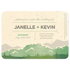 mountain wedding invitations plantable wedding invitations catalog botanical paperworks
