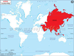 map world asia where is asia asia location in world map