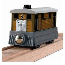 thomas the tank engine wooden railway talking toby engine fisher