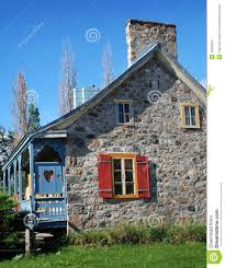 ancient rural stone house in quebec canada stock images image
