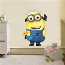Wall decals minions Color the walls of your house
