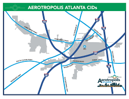 Atlanta Georgia Airport Map by Map Aerotropolis Atlanta Cids