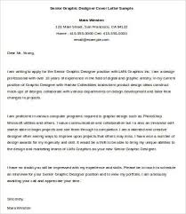 best ideas of senior graphic design cover letter sample with