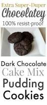 dark chocolate cake mix pudding cookies the creek line house
