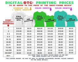 pricing info