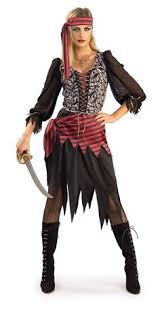Dead Pirate Costume Halloween 5pc Pirate Queen Fancy Dress Womens Costume Size 10 12 Ebay