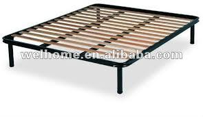 Metal Bed Frame With Wooden Slats Granrest 14 Dura Platform Metal Bed Frame With Wood Slat Within