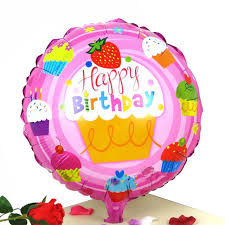 mylar balloons 18 inch happy birthday foil balloon lovely cupcake mylar