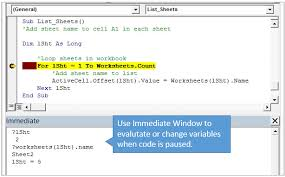 visual basic for loop 5 ways to use the vba immediate window excel campus