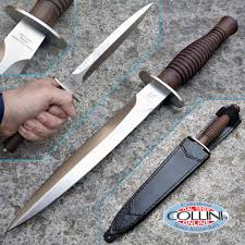 fox fairbairn sykes fighting knife satin walnut fx 593 knife