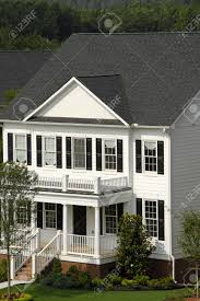 2 Stories House traditional white 2 story house stock photo picture and royalty