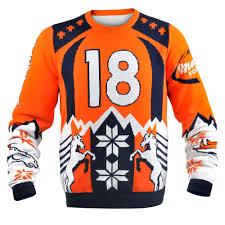 peyton manning denver broncos nfl player sweater