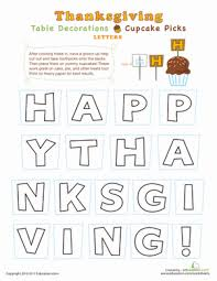 diy thanksgiving printable decorations education