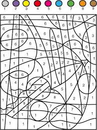 jeu de coloriage numéroté jouer avec les chiffres de 1 à 7