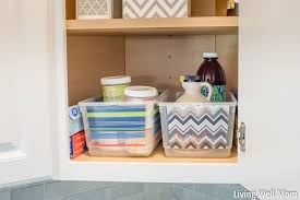 corner cupboard organization in the kitchen