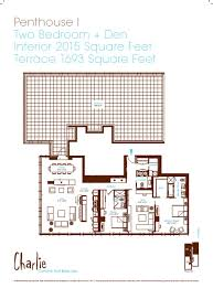 Toronto Condo Floor Plans 1 95 Million Penthouse Available At Charlie Condos Www