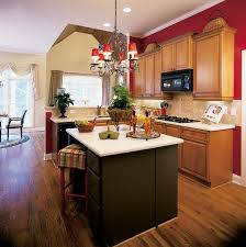 red kitchen wall simple modern twotone kitchen cabinets with red