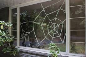 diy window spiderweb for halloween diy network blog made