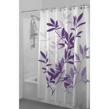 White Curtains With Green Leaves by Interdesign Leaves Shower Curtain Walmart Com