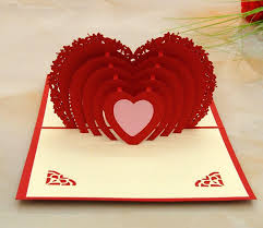 wish cards for wedding 3d folding heart wedding card engagement invitation greeting cards