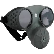 amazon com elope gas mask grey black one size clothing