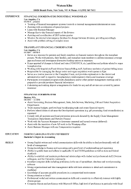 resume templates administrative coordinator ii salary finder for jobs financial coordinator resume sles velvet jobs