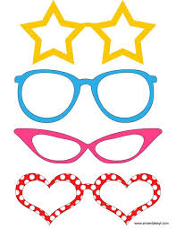 mickey mouse photo booth props glasses from mickey mouse friends inspired printable photo booth