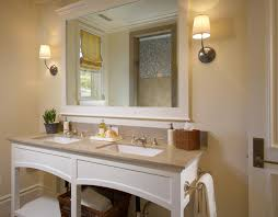 How To Frame A Bathroom Mirror With Crown Molding Master Bath Mirrors Houzz