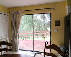 sliding patio door curtains how to hang curtains on sliding doors