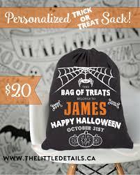 halloween trick or treat sack u2013 the little details