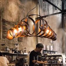 Retro Hanging Light Fixtures Vintage Retro Loft Pendant Lights Industrial Ring Pendant L For