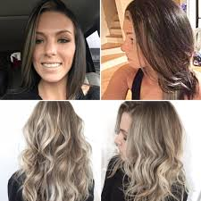 Hair Color Spray For Roots Color Correction Before U0026 After Ash Blonde Balayage With Shadowed