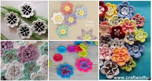 button flowers crochet button flower free pattern