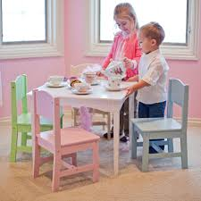Set The Table Kidkraft Nantucket Pastel Table And Chair Set 26101 Hayneedle