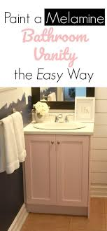 Canadian Tire Bathroom Vanity Painting A Melamine Bathroom Vanity The Easy Way Paint Primer