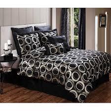 Silver Comforter Set Queen Marlow 8 Piece Queen Bedding Comforter Set Black And Silver