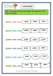 grade 3 maths worksheets 5 digit numbers 2 10 skip counting 5