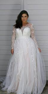 plus size bridal gowns 92bf sheer sleeve plus size bridal dresses darius couture
