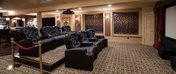 home theater seating platform karen hill interiors home theaters u0026 entertainment spaces