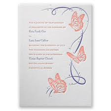 butterfly invitations butterfly letterpress invitation invitations by