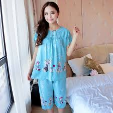 aliexpress com buy women pajamas cotton clothing short tops set