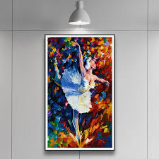 ballet dancers dance class color painting art canvas poster minimalist modern room decor picture no frame