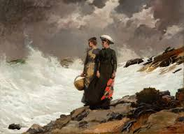 W Homer Artist by Watching The Breakers Winslow Homer Gilcrease Museum